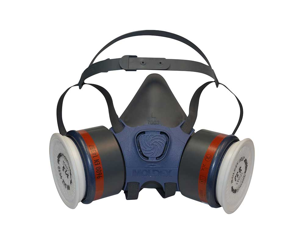 Respirator Mask with gas and particle filters
